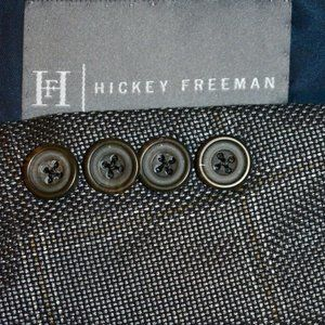 40R Hickey Freeman SILK HOPSAK Gray Brown blazer